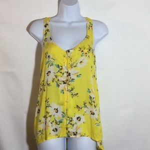 Beautiful yellow floral O'Neill tank top.